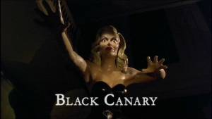 Statue of Marella Carney as the Black Canary