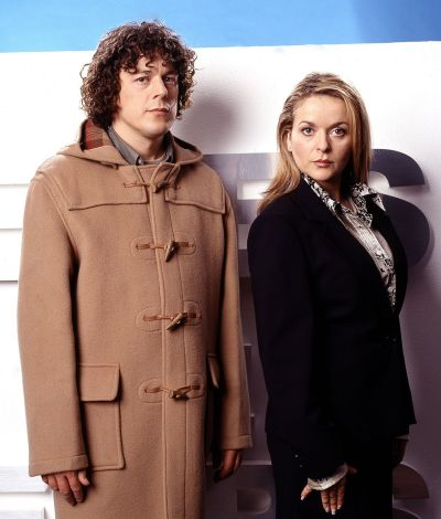 A publicity shot to advertise series 4, Jonathan and Carla